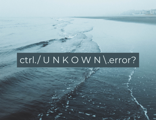 ctrl./ U N K O W N \.error?